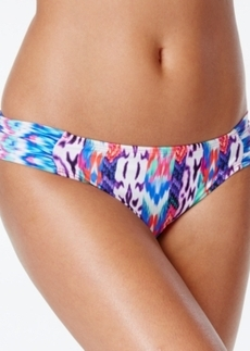 Kenneth Cole Reaction Printed Ruched-Tab Bikini Bottom Women's Swimsuit