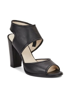 Kenneth Cole Leather Block Heel Sandals
