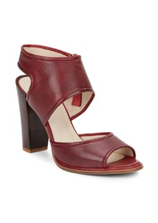 Kenneth Cole Stacey Leather Block Heel Sandals