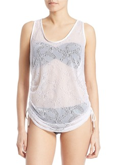 KENSIE Lace Side-Tie Cover-Up