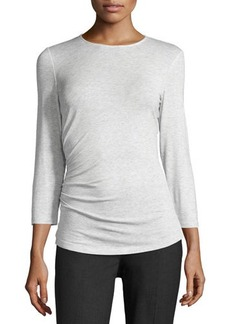 Lafayette 148 New York 3/4-Sleeve Ruched Tee