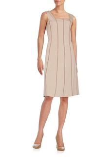 Lafayette 148 New York Adelaide Stretch Cotton A-Line Dress