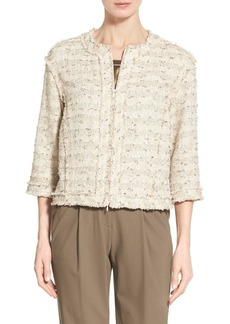 Lafayette 148 New York 'Amity - Dominique Tweed' Cotton Blend Jacket