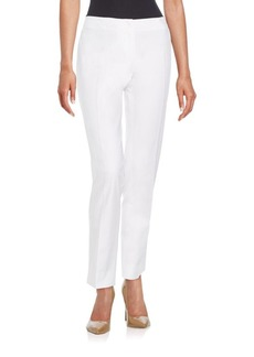 Lafayette 148 New York Aston Stretch Cotton Slim Leg Pants
