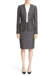 Lafayette 148 New York 'Aubrey' Tweed Blazer (Regular & Petite)