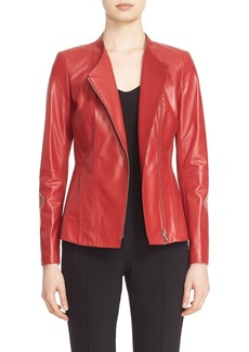 Lafayette 148 New York 'Austin' Tissue Weight Lambskin Leather Jacket