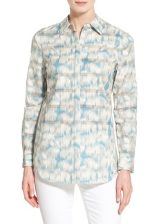 Lafayette 148 New York 'Brody - Watercolor Ikat' Cotton Blouse