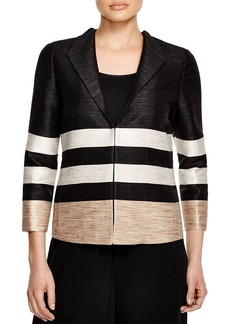 Lafayette 148 New York Buckley Stripe Jacket