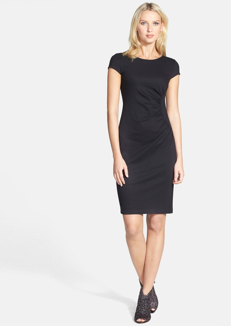 Lafayette 148 New York Cap Sleeve Shirred Side Dress (Regular & Petite)