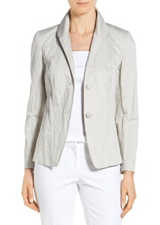 Lafayette 148 New York 'Carmen' Metallic Cotton Jacket (Regular & Petite)