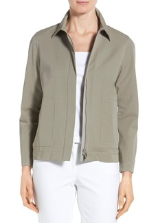Lafayette 148 New York 'Cassidy' Zip Front Jacket