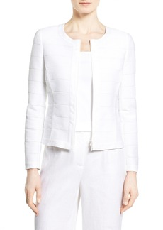 Lafayette 148 New York 'Catrice' Shadow Stripe Knit Jacket