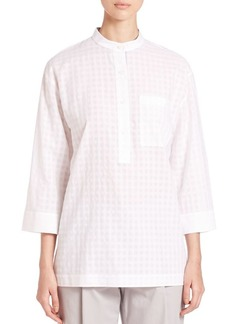 Lafayette 148 New York Cecilia Sheer-Panel Blouse