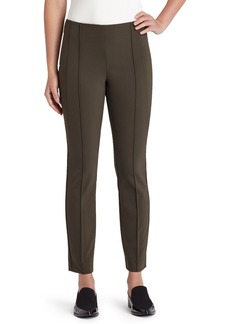Lafayette 148 New York 'City' Seam Detail Stretch Slim Pants (Regular & Petite)