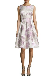 Lafayette 148 New York Clarice Floral-Print Tea-Length Dress