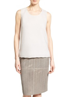 Lafayette 148 New York 'Cleo' Texture Front Shell
