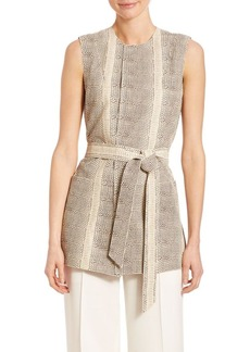 Lafayette 148 New York Cobra Leather Faye Vest