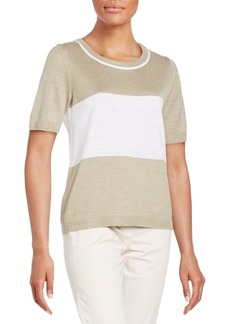 Lafayette 148 New York Colorblock Hemp Sweater