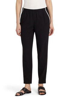 Lafayette 148 New York Contrast Piping Track Pants