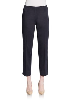 Lafayette 148 New York Cropped Stretch-Cotton Pants
