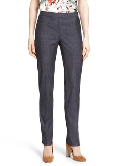 Lafayette 148 New York 'Downtown' Side Zip Slim Leg Pants