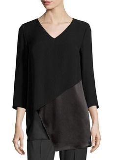 Lafayette 148 New York Ellie Layered Silk Top