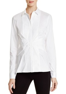 Lafayette 148 New York Evalina Pleat Waist Blouse