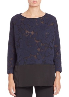 Lafayette 148 New York Floral Combo Top