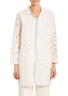 Lafayette 148 New York Floral Fil Coupe Mirella Jacket