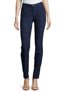 Lafayette 148 New York Floral Jacquard Skinny Jeans