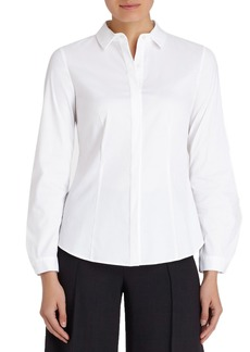 Lafayette 148 New York 'Frieda' Stretch Cotton Blouse