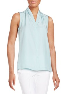 Lafayette 148 New York Gia Sleeveless Silk Blouse