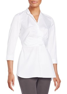 Lafayette 148 New York Ginger Faux-Wrap Blouse