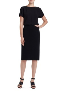 Lafayette 148 New York 'Gwen' Crepe Blouson Dress