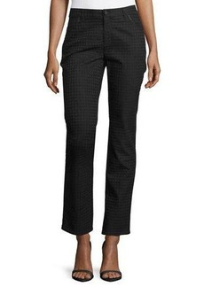 Lafayette 148 New York Houndstooth Jacquard Curvy Slim Jeans  Houndstooth Jacquard Curvy Slim Jeans