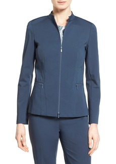 Lafayette 148 New York 'Janina' Mandarin Collar Jacket (Regular & Petite)