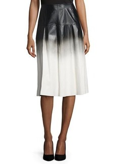 Lafayette 148 New York Jessa Ombre Leather Skirt