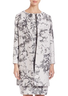 Lafayette 148 New York Karen Botanical Splash Jacquard Jacket