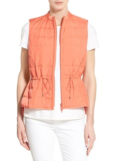 Lafayette 148 New York 'Kyra' Channel Quilted Drawstring Vest