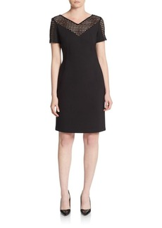 Lafayette 148 New York Lace Yoke Sheath Dress