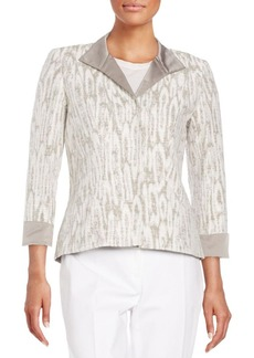 Lafayette 148 New York Laryn Abstract-Print Jacket