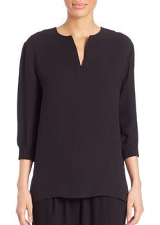Lafayette 148 New York Leisha Silk Double Georgette Blouse
