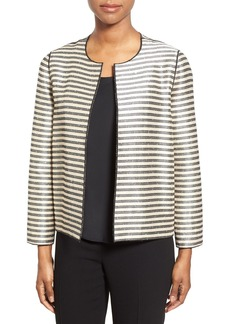 Lafayette 148 New York 'Leo' Sequin Stripe Jacket (Regular & Petite)