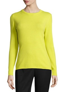 Lafayette 148 New York Long-Sleeve Cashmere Sweater