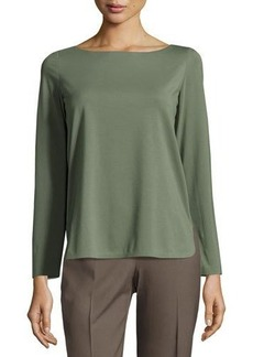 Lafayette 148 New York Long-Sleeve Round-Neck Tee