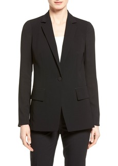 Lafayette 148 New York 'Lorelle' Sheer Panel Jacket