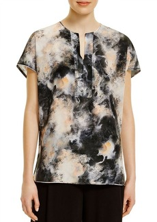 Lafayette 148 New York Lula Abstract Print Silk Blouse