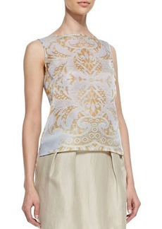 Lafayette 148 New York Maddie Sleeveless Damask Top  Maddie Sleeveless Damask Top