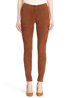 Lafayette 148 New York 'Magic Stretch' Suede Skinny Pants