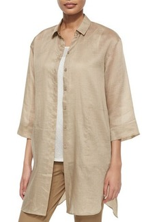 Lafayette 148 New York Melody Long Shirtdress Blouse  Melody Long Shirtdress Blouse